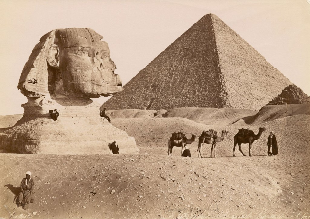 Picture of the Day: Khufu and the Great Sphinx ca. 1860-1929