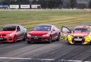 Tesla Drag Races Holden V8 Supercar and Walkinshaw GTS