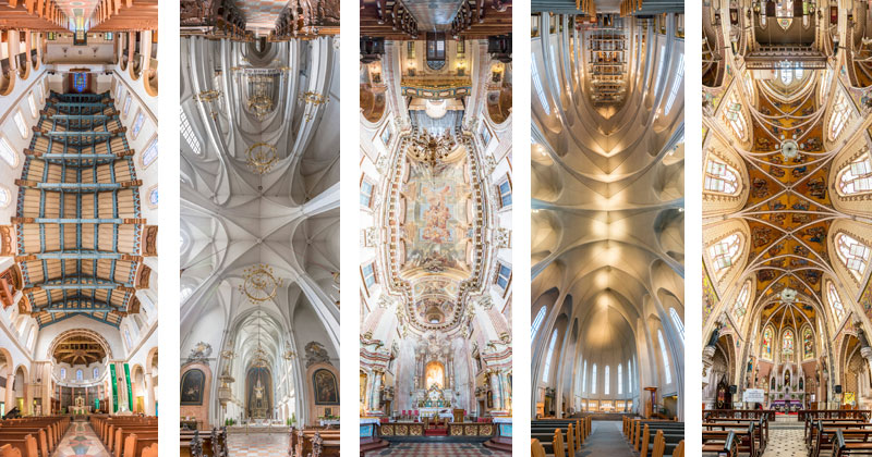 Amazing Vertical Panoramas of Church Ceilings Around the World