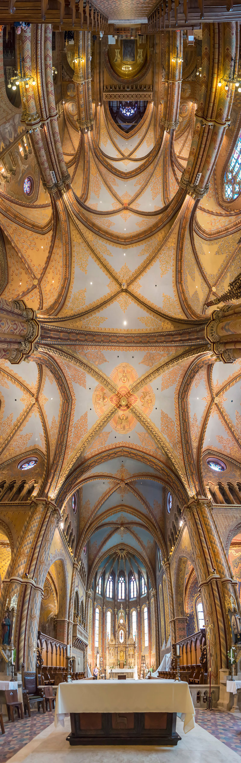 Vertical Panoramas of Church Ceilings Around the World (4)