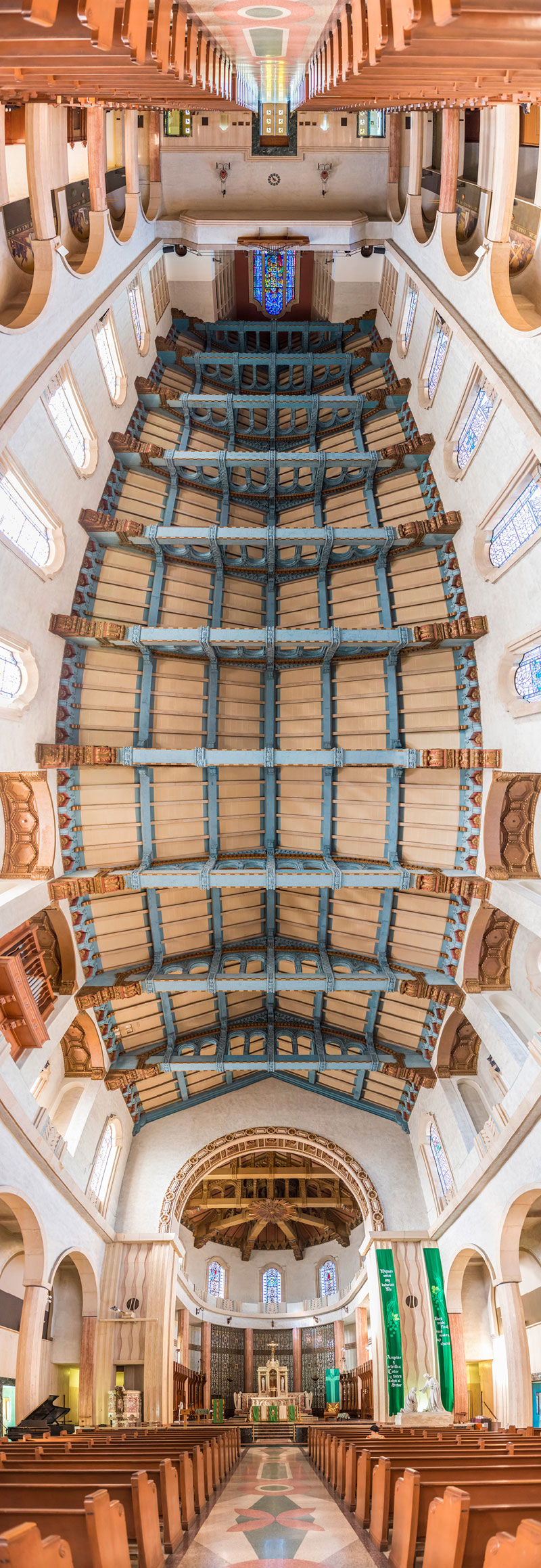 Vertical Panoramas of Church Ceilings Around the World (5)