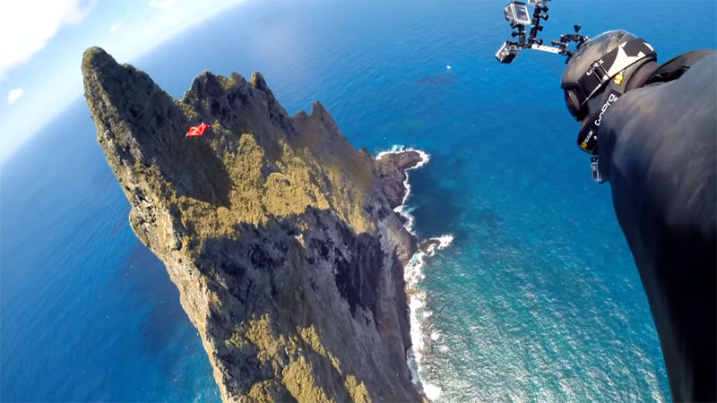 Wingsuit Flying Over the World's Tallest Volcano Stack (9)