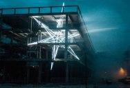Artist Installs Giant 4-Story LED Star in Abandoned Building