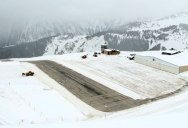 Watch a Plane Take Off from This Runway in the French Alps