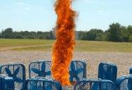 DIY Fire Tornado in Super Slow Motion
