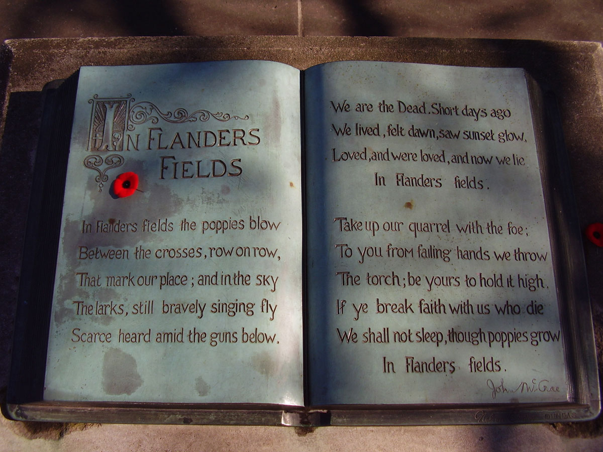 flanders field memorial guelph ontario canada Picture of the Day: Lest We Forget