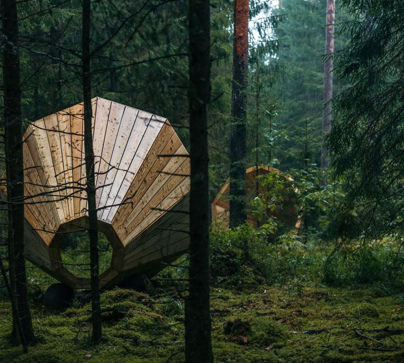 giant megaphones in the forest estonia (12)