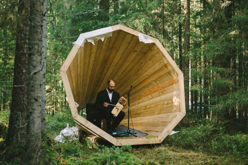 giant megaphones in the forest estonia (5)