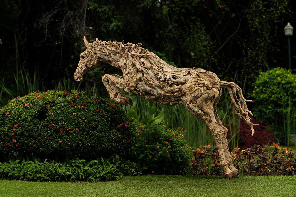 leaping driftwood horse sculpture by james doran webb Picture of the Day: Leaping Driftwood
