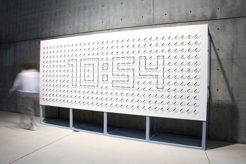 Meta Wall Clock Turns Analog Clock Hands Into Digital-Like Display by human since 1982 (7)