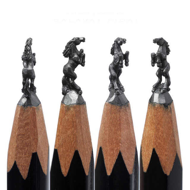miniature sculptures carved on the tips of pencils by salavat fidai (5)