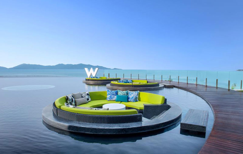 poolside at the w retreat in koh samui thailand Picture of the Day: Poolside at the W in Koh Samui