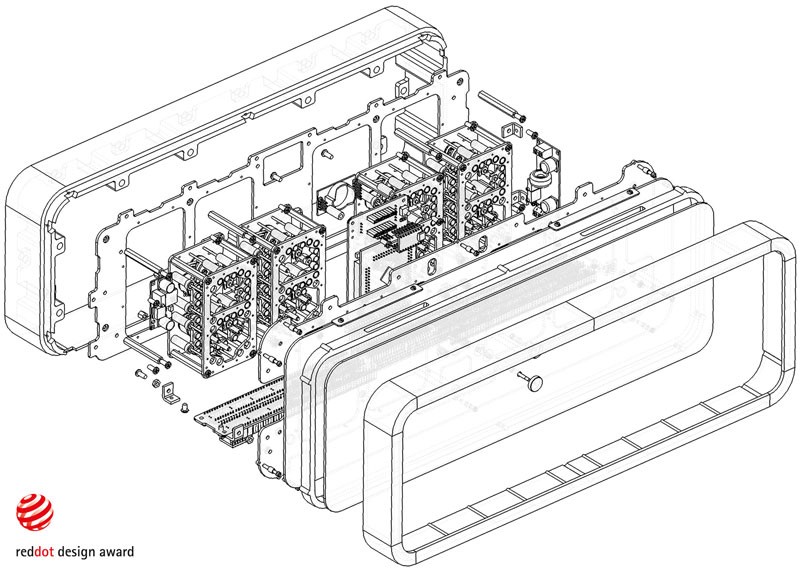Rhei Electro-Mechanical Clock with Liquid Display Mangets Ferrofluids (14)