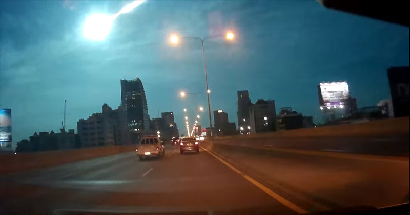 Video: Shooting Star in Bangkok Lights Up the Night Sky