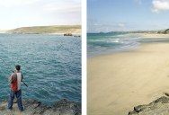 Identical Portraits Along the British Coast at High and Low Tide