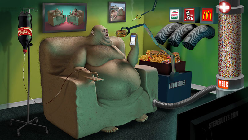 the sad state of todays world by steve cutts (2)