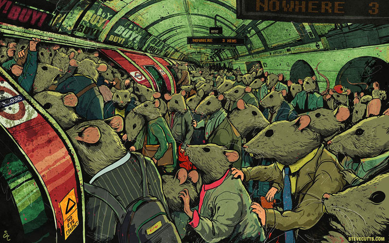 the sad state of todays world by steve cutts (5)