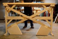 This Custom Built, Wooden Counterweight Sit/Stand Desk is a Thing of Beauty