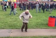 Awesome 83-Year-Old Rocks Out at Electronic Music Festival in The Netherlands