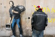 New Banksy Mural of Steve Jobs Highlights Refugee Crisis