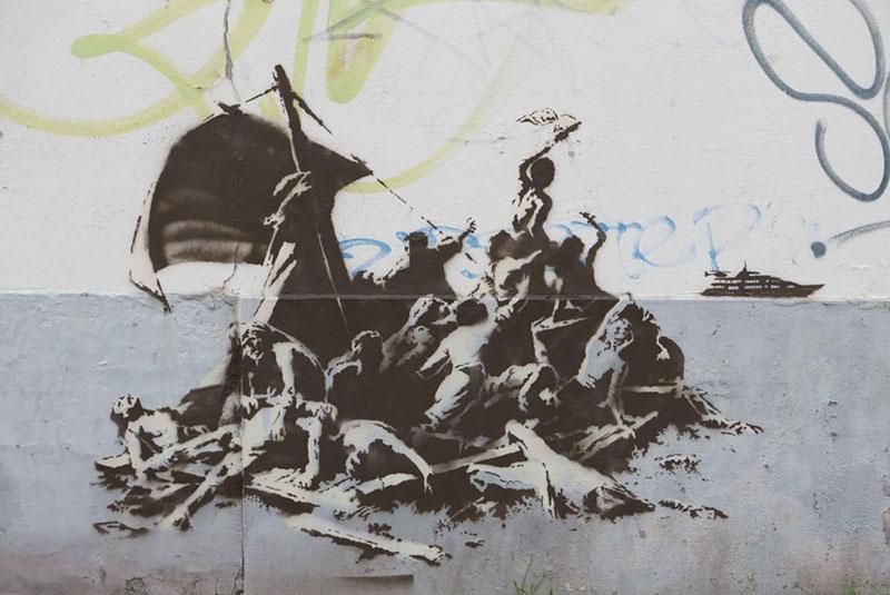 Banksy Mural of Steve Jobs Highlights Refugee Crisis (7)