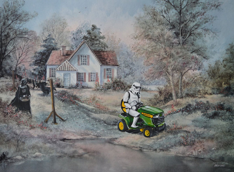 Darth Vader on his day off thrift store painting remixes by david irvine 3
