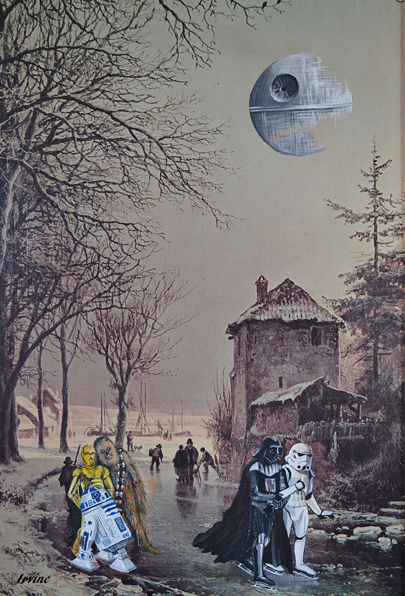 Darth Vader on his day off thrift store painting remixes by david irvine 5