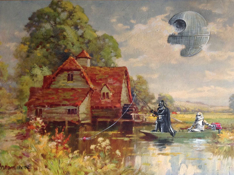 Darth Vader on his day off thrift store painting remixes by david irvine