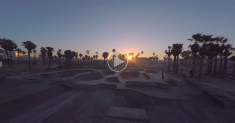 A Tranquil, Early Morning Miniature Drone Tour Through Venice Beach