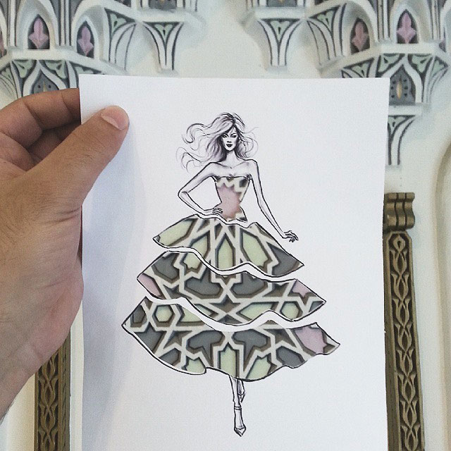 Fashion Cut Outs Use The World Around Them for Their Palette by shamekh bluwi (10)