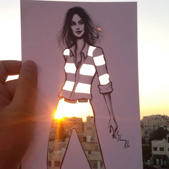 Fashion Cut Outs Use The World Around Them for Their Palette by shamekh bluwi (11)