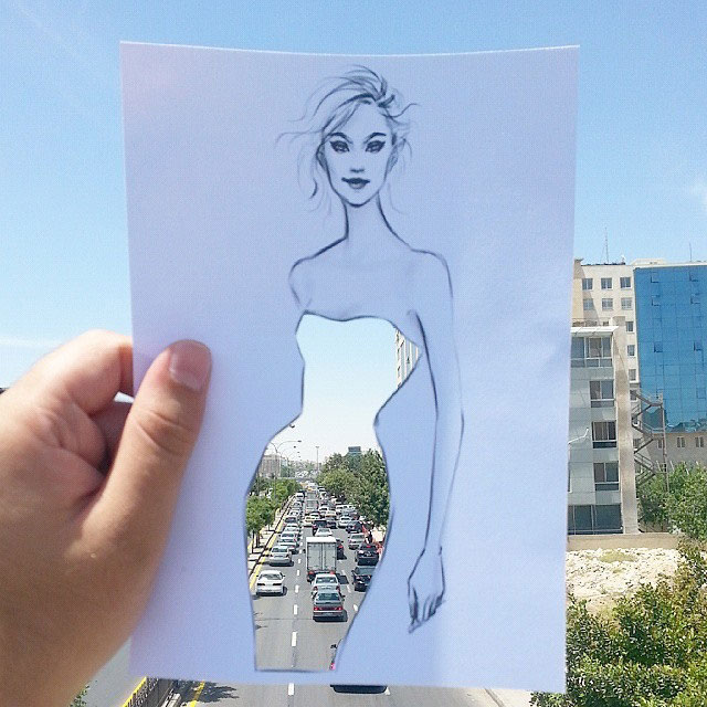 Fashion Cut Outs Use The World Around Them for Their Palette by shamekh bluwi (12)
