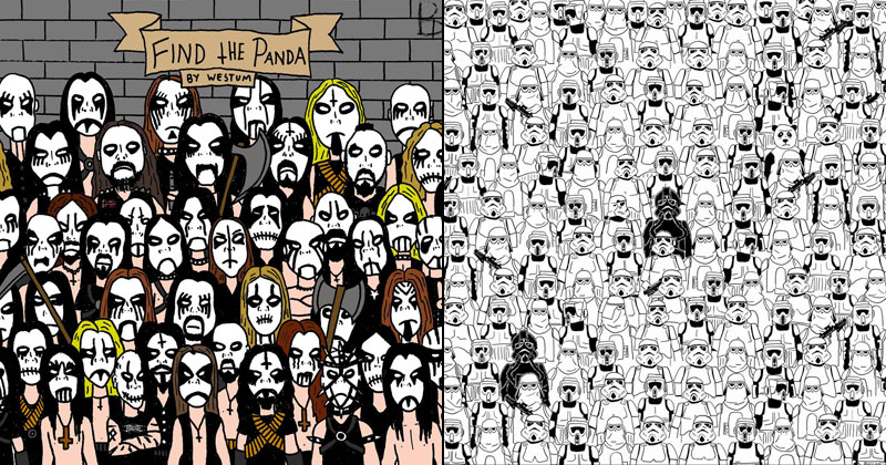 Find the Panda: Black Metal / Star Wars Editions