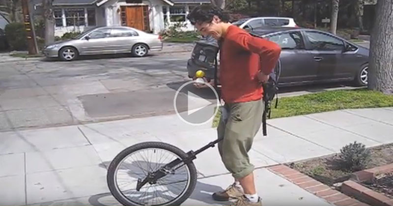 Juggling Unicyclist Goes to Defend his Math PhD at Stanford