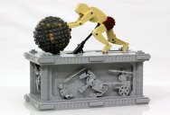 LEGO Sisyphus Pushes Boulder for Eternity