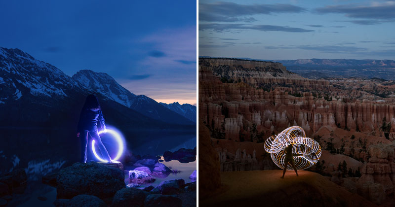 Photographer Road Trips the US with His Camera, Girlfriend and LED Hula Hoop