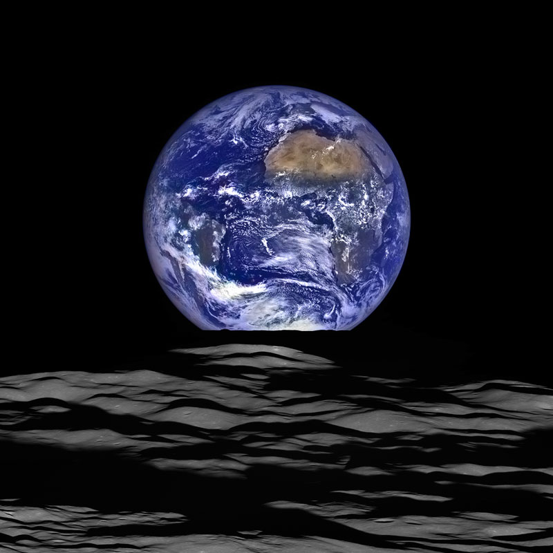 nasa earthrise lro 2015 Picture of the Day: Earthrise 2015