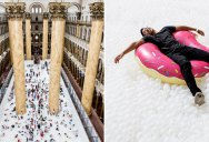 Artists Turn Museum Floor Into All White 10,000 Sq Ft Ball Pit (12 Photos)