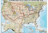 A Year-Long US Road Trip Where Every Day is Around 70F
