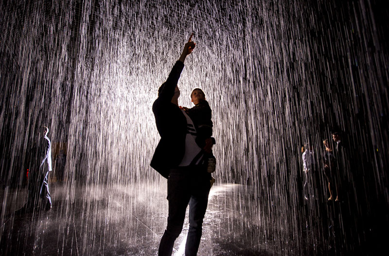 This Art Exhibit Lets You Walk Through Rain Without Getting Wet
