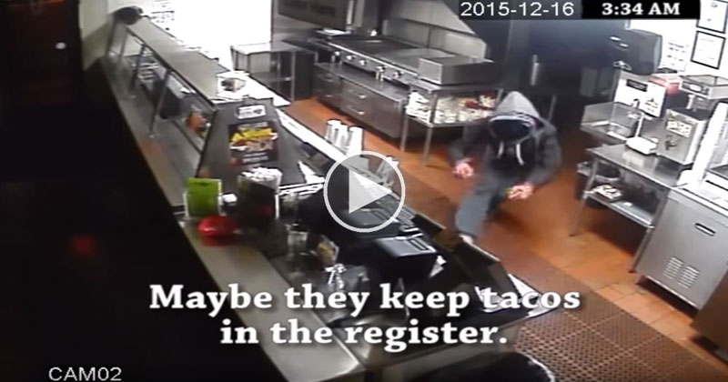 Restaurant Uses Security Footage from a Recent Robbery and Turns It Into a Funny Commercial