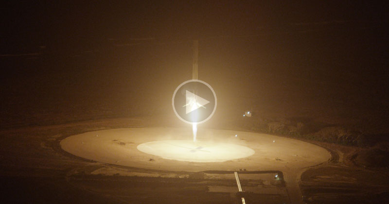 Historic SpaceX Rocket Lands Back on Earth After Going to Space