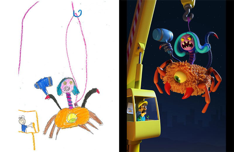 the monster project brings kids drawings to life (12)