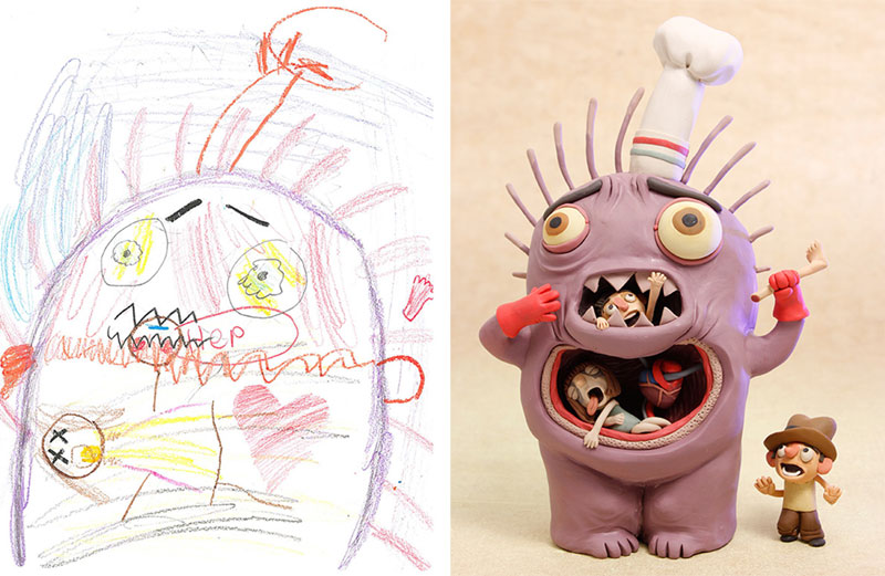 the monster project brings kids drawings to life (19)