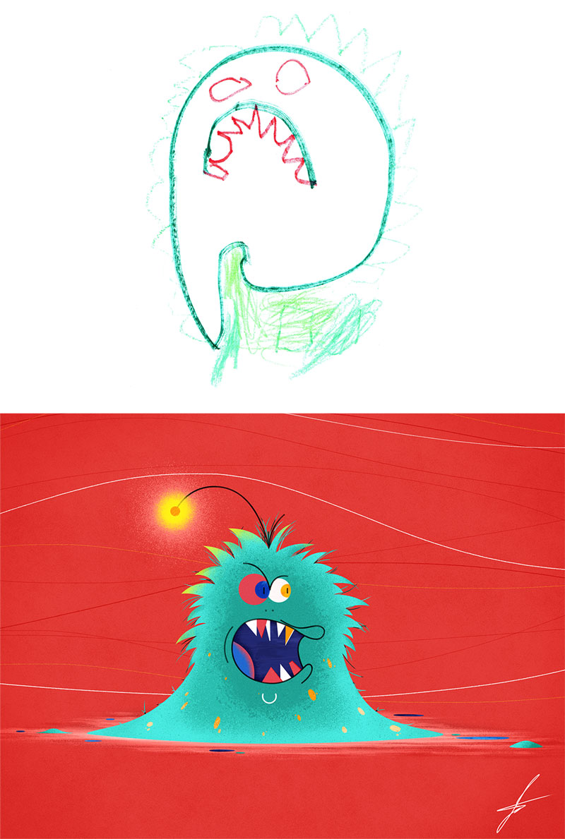 the monster project brings kids drawings to life (4)