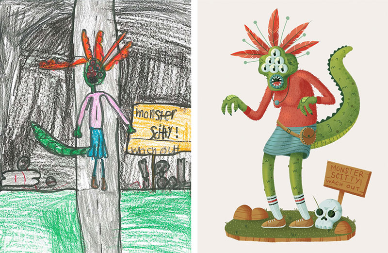 the monster project brings kids drawings to life (5)