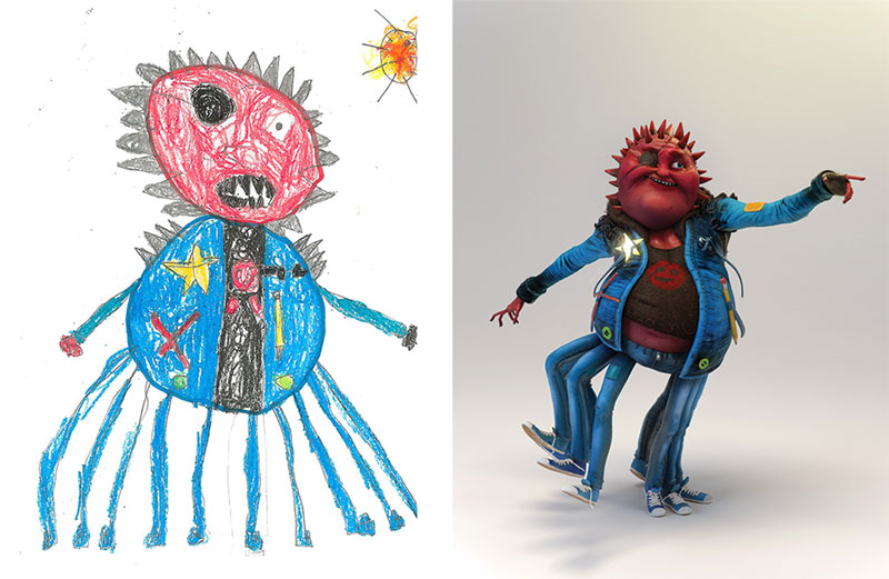 the monster project brings kids drawings to life (8)