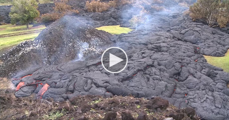 The Slow and Destructive Power of Lava Flows