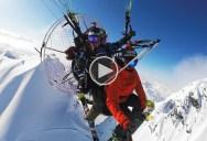 Alaskan Air Drops With a Paramotor