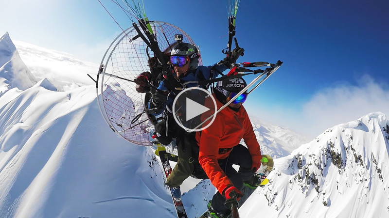 Alaskan Air Drops With a Paramotor